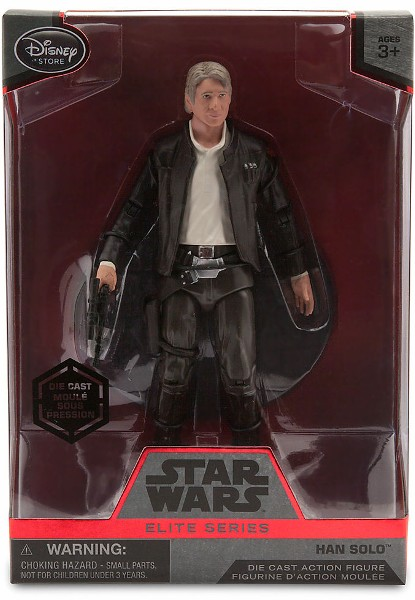 Hasbro Star Wars Elite Series Die Cast Han Solo Figure